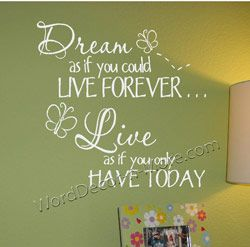 DREAM AS IF Motivational Wall Quote-Dream As If wall quote,motivational wall quote,
