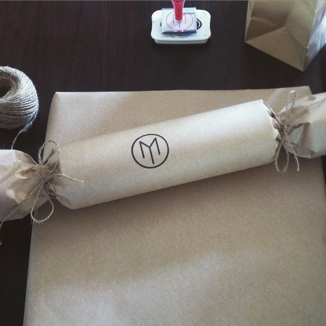 Having fun wrapping up orders today ...I wonder what is inside...!