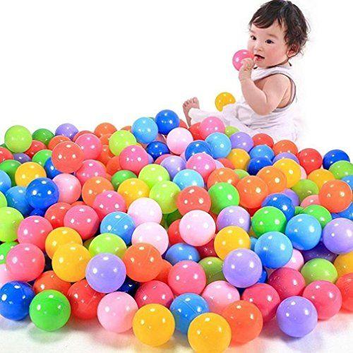 100pcs boule colorée Longra bébé jouet enfant balle en plastique souple de l'océan nager fosse jouet