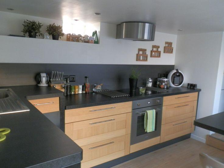 1000 id es propos de cuisines noires sur pinterest - Cuisine noire et bois ...