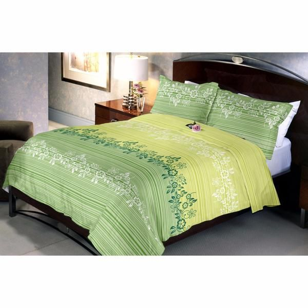 Herbal Green Bed Sheet Gives A Feel Of Greenery In The Bedroom. Yellow Colour Gives A Grassland Kind Feeling And The Olivedrab Provides A Forest Like Feeling.