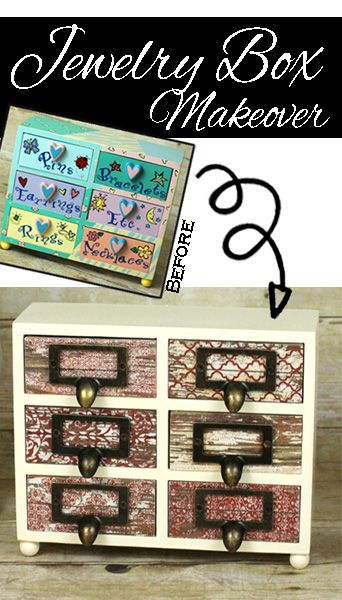 Makeover a bright and gaudy kid's jewelry box into something that old kids and even adults would love!