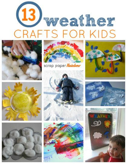 Lots of great weather craft ideas for kids