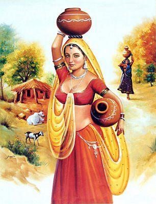 Indian Art Paintings - Angelslover - The Entertainment Website http://www.pinterest.com/tinavanfenn3/indian-art-paintings-indien/