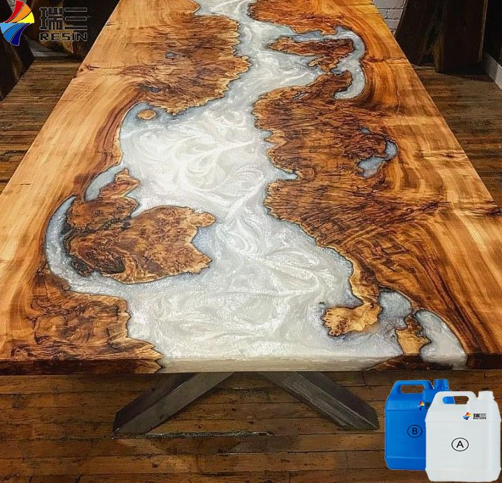 Whole Sale Epoxy Resin Clear Liquid For Fast Curing Wood Casting With Hardener Wood Resin Table Resin Furniture Epoxy Wood Table