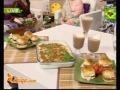 Mini Schnitizel Burgers, Pizza Top Crackers, Mocha Cooler, Sandwich Dahi Wada And Coconut Chutney by Shireen Anwer | Zaiqa