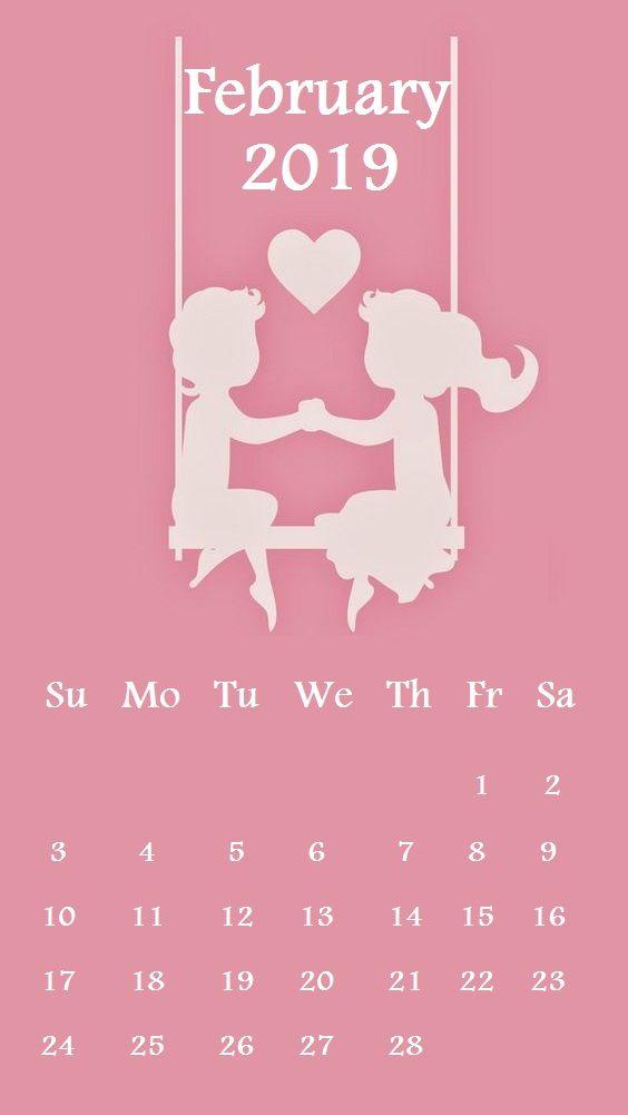 February 5th 2019 Calendar Cute love February 2019 iPhone Wallpaper | Calendar Designs in