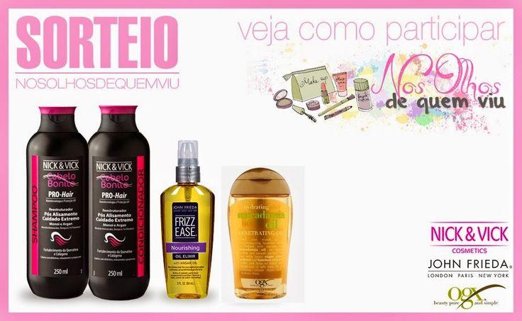 Nos olhos de quem viu: SORTEIO: seu cabelo perfeito!http://nosolhosdequemviu.blogspot.com.br/2014/09/sorteio-seu-cabelo-perfeito.html