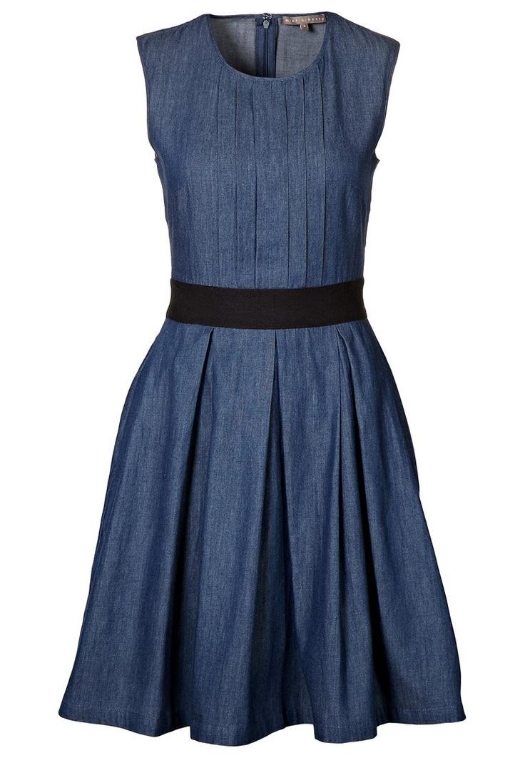 summer dress.: Nice Jeansdress, Summer Dresses, Fashion 3, Denim Dresses, Style, Clothes, C S Wedding, Dress Red, 13 Fashion