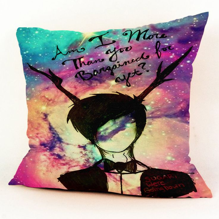 """Fall Out Boy Galaxy Nebula Custom Square Pillow Case 18""""x18"""" (one side) #Customdropshipping"""