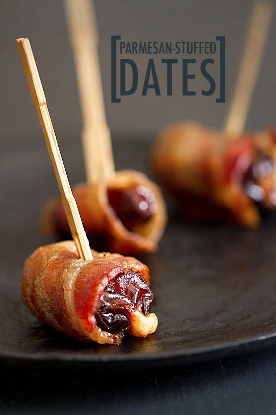 Sweet, salty, smoky and oozing with molten cheese. These Bacon-Wrapped Parmesan Stuffed Dates are irresistible little flavor bombs.