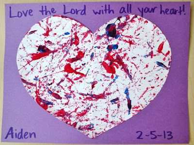A keepsake, a writing exercise, and fun with paint – here's what we've been up to this week!               #1: Valentine Keepsake:  We ...