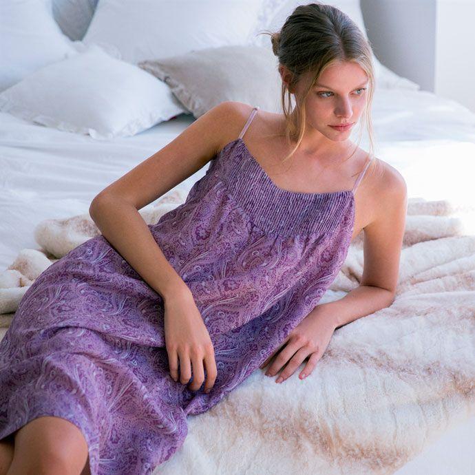 camisa de dormir algodão e seda com estampado - Camisas de dormir - Women's Homewear - Homewear | Zara Home Brasil