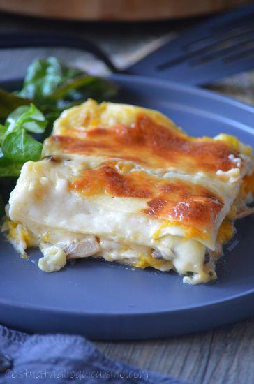 Lasagnes potiron et champignons – Le blog de Est Nathalie qui cuisine  – recettes végétariennes