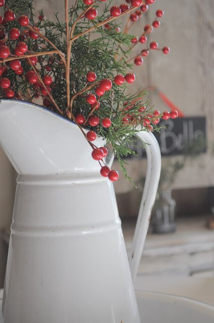 country holiday pitcher