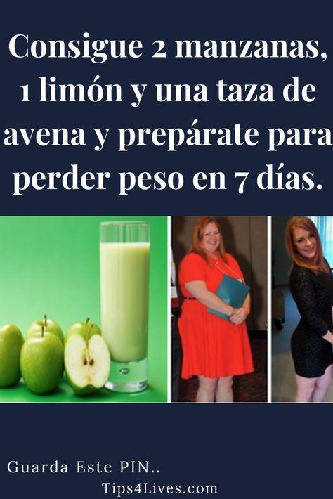 Consigue 2 manzanas, 1 limón y una taza de avena y prepárate para perder peso en 7 días.