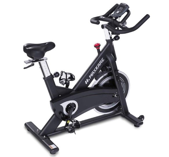 Maxkare Belt Driven Spin Bike Reviews Biking Workout Indoor