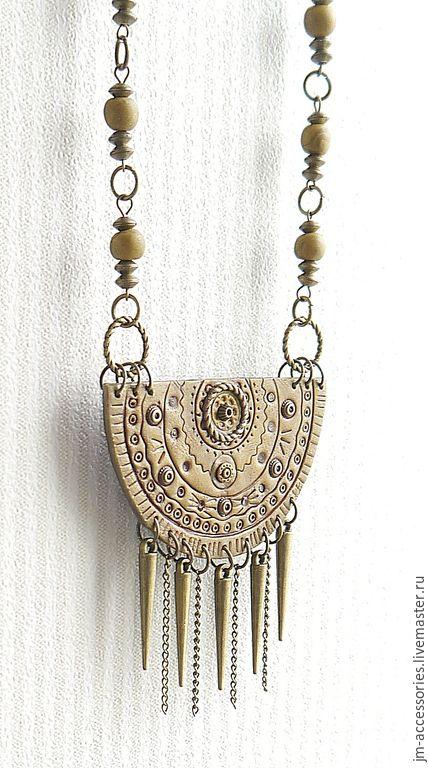 """Купить Колье """"Принцесса майя"""" - золотой, бронзовый, колье, индейский стиль, индейские мотивы, майя"""