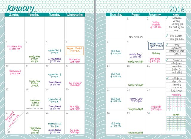 Mormon Mom Planners - Monthly Planner/Weekly Planner