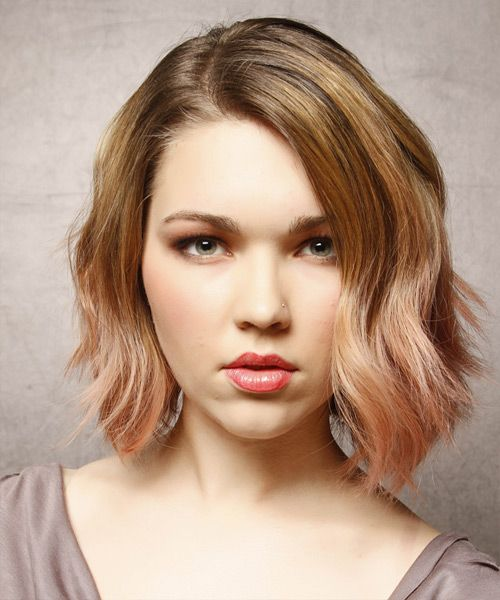 Medium Hairstyle - Wavy Casual - Dark Blonde   TheHairStyler.com