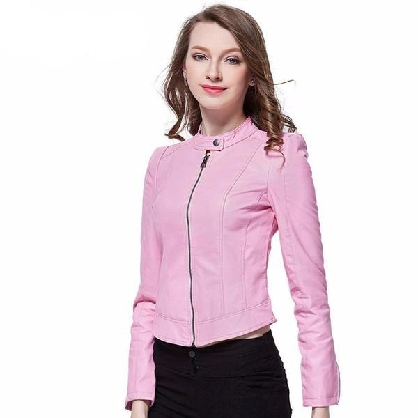 Women's Leather Jacket Red Suede Blazer Leather jackets