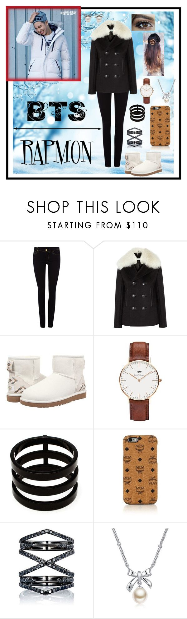 """~RapMon :: Play Warm~"" by taeangel ❤ liked on Polyvore featuring True Religion, Balenciaga, UGG Australia, Daniel Wellington, Repossi, MCM, Eva Fehren, MBLife.com, kpop and bts"