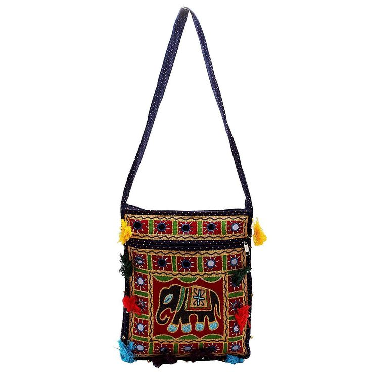 Women's Beguiling Blue Sling Elephant Bag Lady Purse Ethnic Bags Gift For Girl