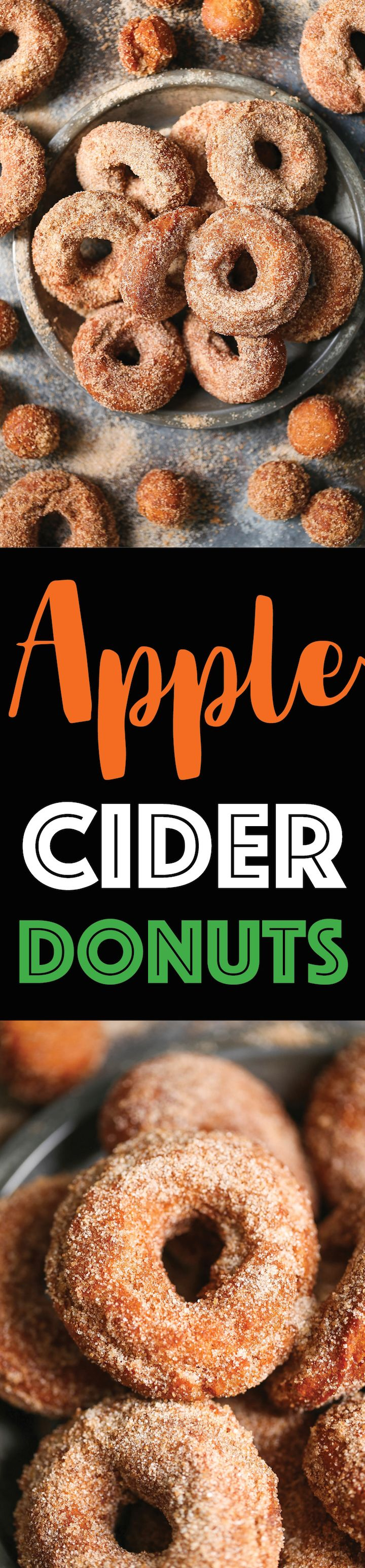 Apple Cider Donuts - There's truly nothing better than biting into a warm, fresh donut coated in cinnamon sugar. It melts in your mouth with every bite!