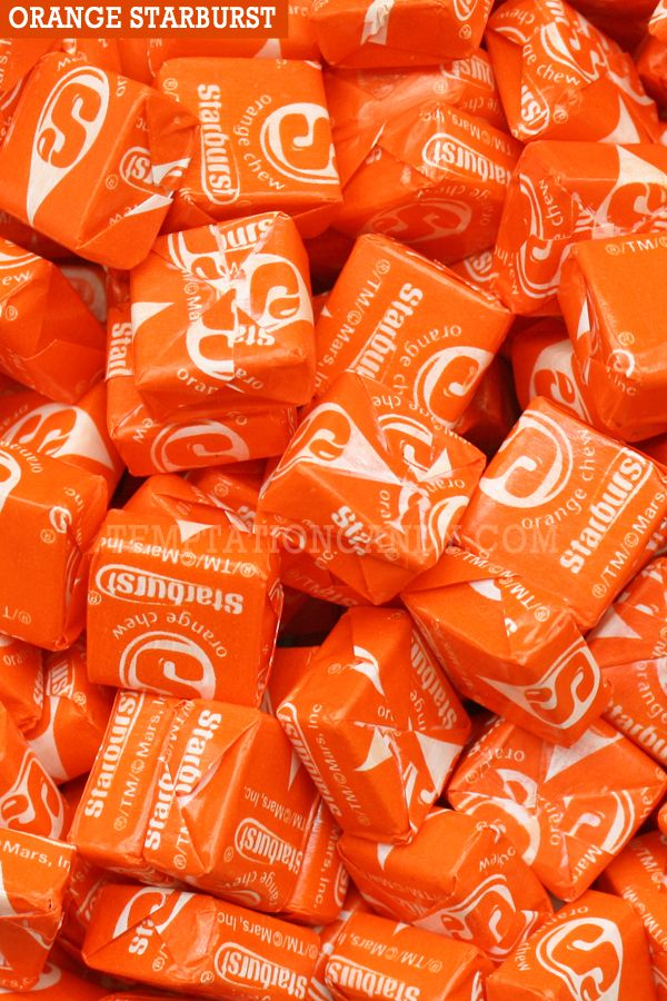 Outrageously tasty Orange Starburst Candy from Temptation Candy. If Orange is your favorite flavor of Starburst then you've come to the right place! Sold in 2 pound increments, approx. 90 pieces per lb. That should be more than enough to fulfill any intense craving - or send it as a special gift to that loved one who can never get enough. Always in stock at Temptation Candy, shipped fresh and fast.