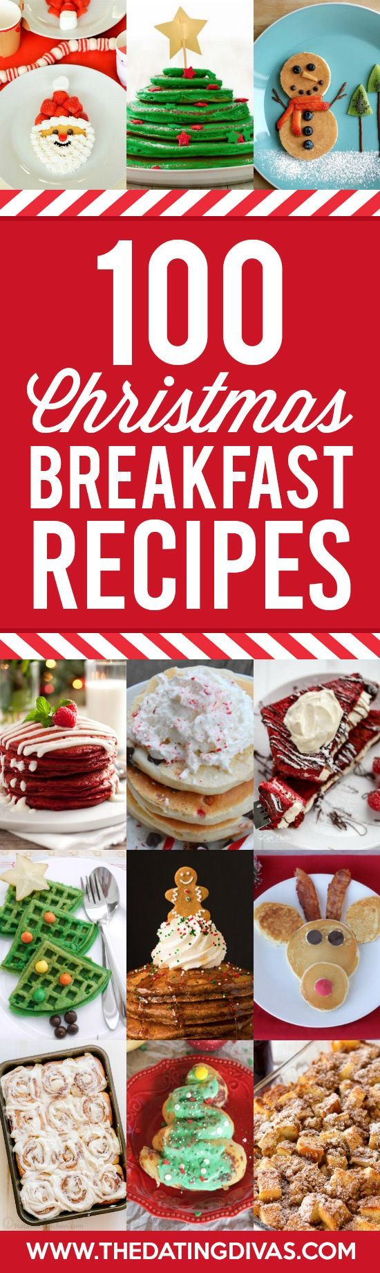 100 perfect Christmas Breakfast Recipes gathered into one place! No matter how many you need to feed or how much time you want to spend this post has you covered!