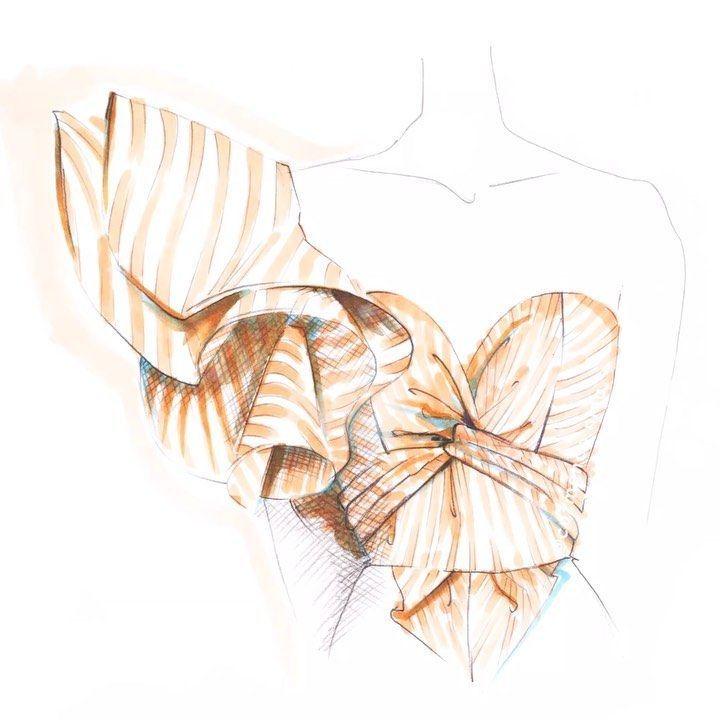 Fashion Illustrator Designer On Instagram Girls Must Be Girls My Weakness Is Ruches Shu Ilustracao Vestido Ilustracao De Moda Esbocos De Design De Moda