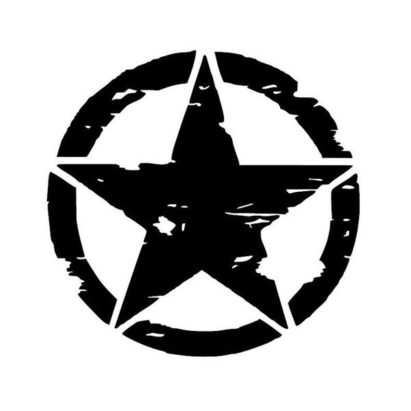 15cm 15cm Army Star Graphic Decals Motorcycle Car Stickers Vinyl Car Styling Wish Star Decals Car Stickers Star Vinyl