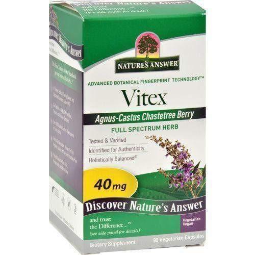 Nature's Answer Vitex Agnus-Castus Chastetree Berry - 90 Vegetarian Capsules