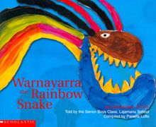 Warnayarra the Rainbow Snake  This story is based on a story told by the Senior Boys class at Lajamanu School, a bi-lingual school where Aboriginal children are taught to read and write their own language, Warlpiri.  The illustrations are adapted from original paintings done by the children for their story.  PRICE: $16.00  PRICE: [set 7 - $110.00]