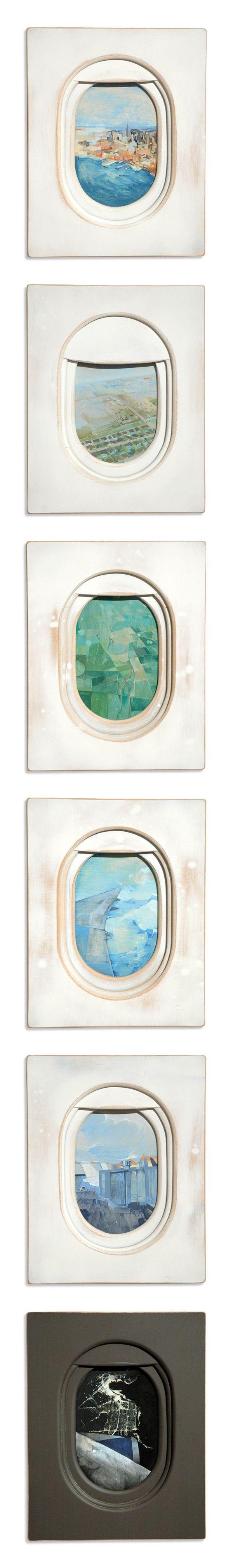 jim darling airplane window paintings
