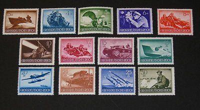 Stamp Pickers Germany 1944 Hero Memorial Day Semi-Post MNH Set Sc #B257-B269