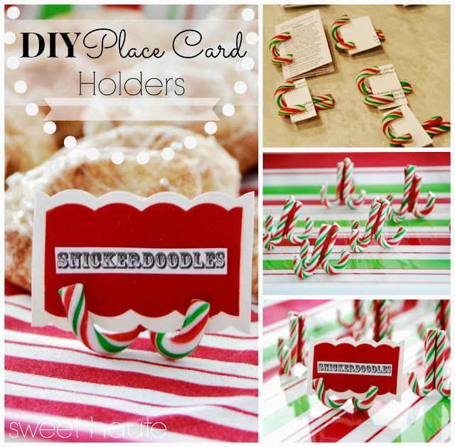 diy christmas dinner place card buffet card label sign holders sweet haute can