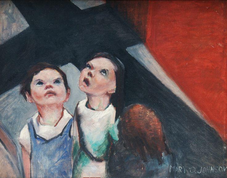 Children under the Shadow of Plane Date: 1937 Medium: Oil on canvas