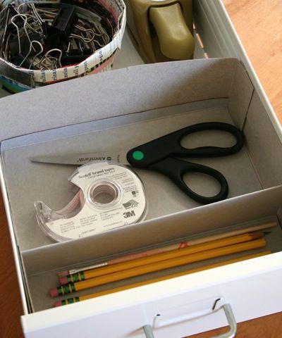 cereal box drawer organizer #DIY