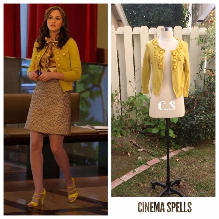 As Seen On Blair Waldorf Gossip Girl Milly Beaded Yellow Cardigan Sweater Size S #Milly #Cardigan