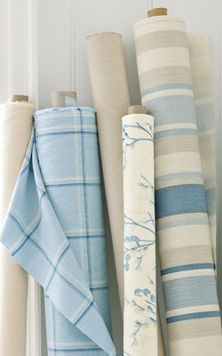 Decorating at Laura Ashley ***the bold stripe for my roman blind***