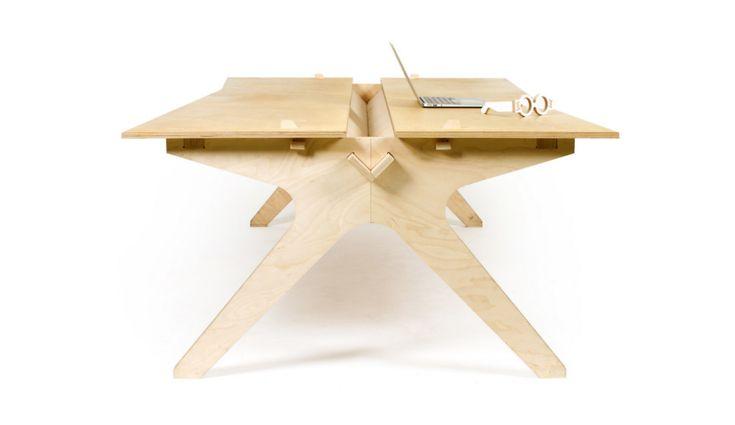 Рабочий стол из экологически чистого материала фанеры. И еще, что немаловажно, мало найдется мебельных и столярных материалов которые превосходят фанеру по прочности. Следите за новостями скоро в бесплатном доступе.