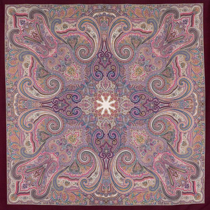 """Шаль из уплотненной шерстяной ткани с шелковой бахромой """"Драгоценная"""", вид 7"""