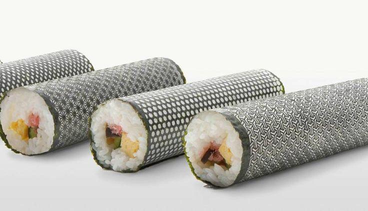 Laser-cut nori maki sushi !
