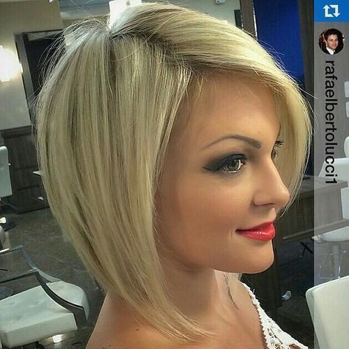 blonde angled bob