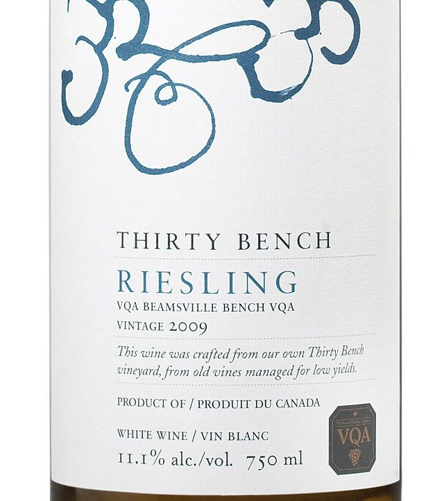 thirty bench riesling / beamsville bench