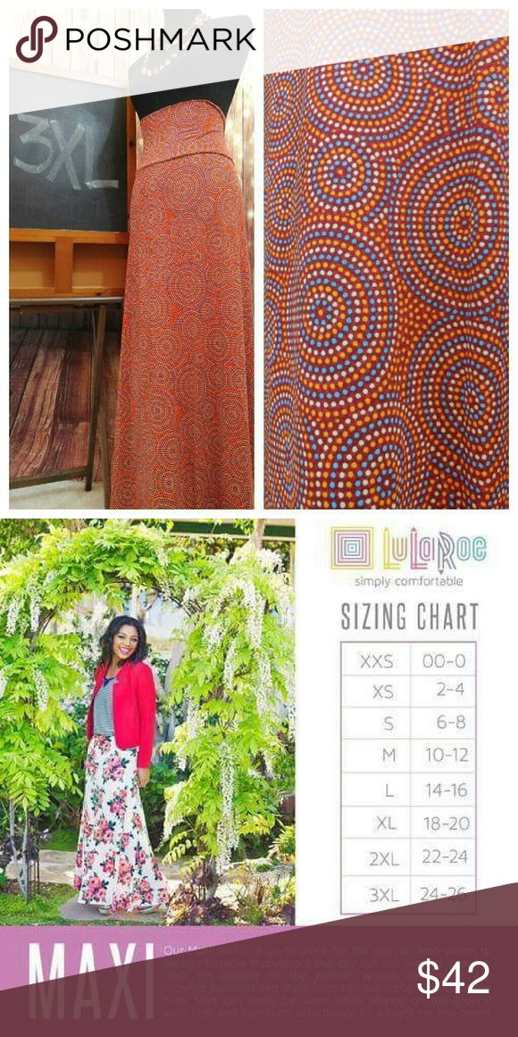 LuLaRoe Maxi Skirt LuLaRoe's Maxi skirt is a go-to piece for the woman who wants to be comfortable throughout the day but still likes to look her best. It's perfect for the woman whose demanding day requires function and style from her wardrobe. The LuLaRoe Maxi Skirt can easily be worn while playing on the ground with kids and transitions effortlessly to a night on the town! LuLaRoe Skirts Maxi