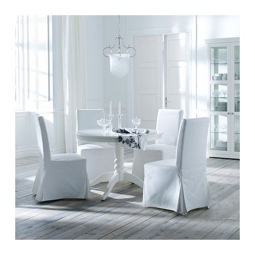 Henriksdal Chair With Long Cover Brown Black Blekinge White Game Tables Liatorp And White Slip