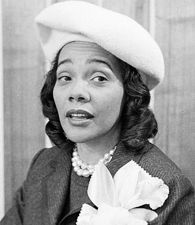 Coretta Scott King (APRIL 27, 1927):  Civil rights, human rights, and peace activist.  She was the widow of Dr. Martin Luther King, Jr. and after his death she continued to carry on his civil-rights work.