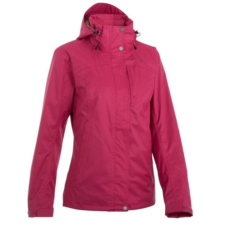 Arpenaz 300 Rain 3az1-ben női kabát, rózsaszín